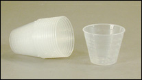Cups-Plastic Graduated 1 ounce